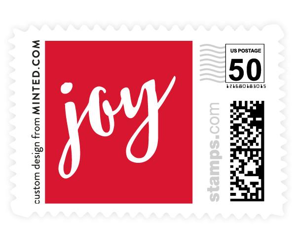 custom design by Minted.com stamp