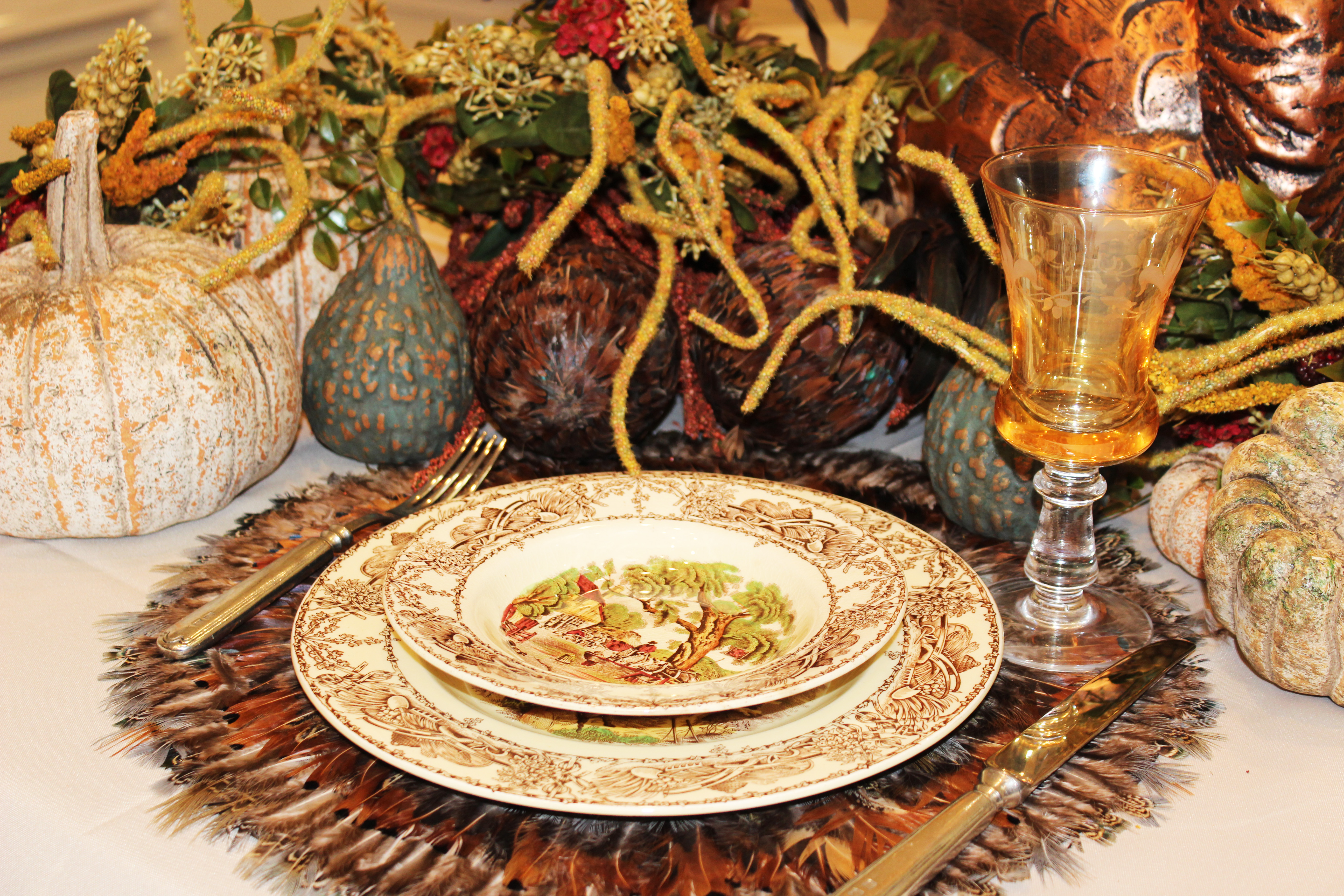Informal Thanksgiving Dinner:  Tabletops & Recipes