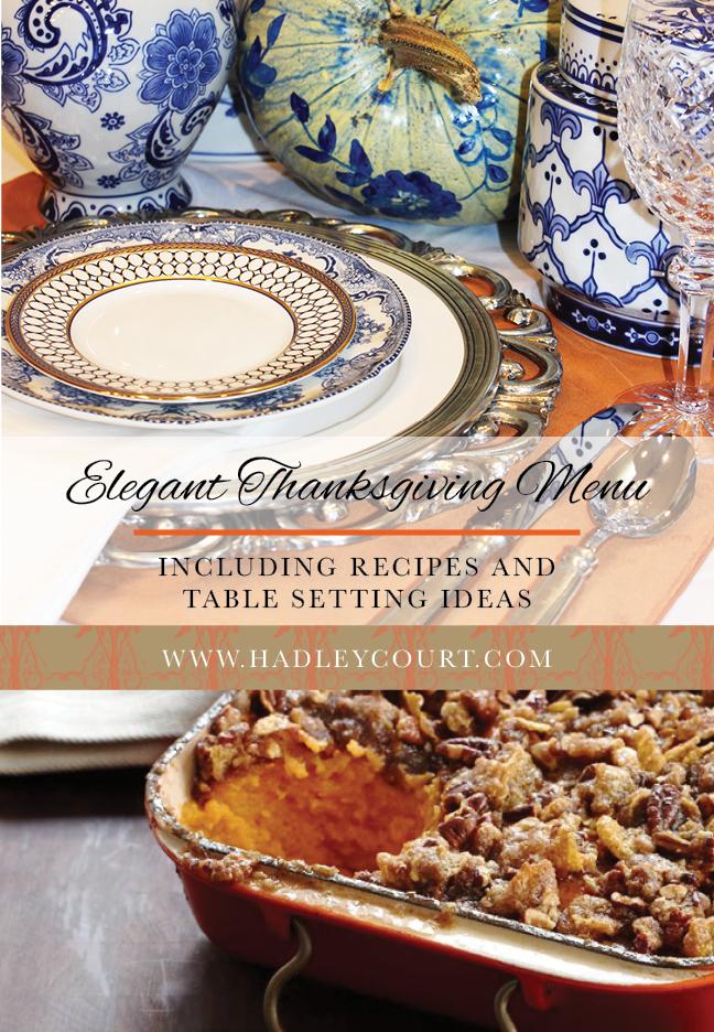 elegant thanksgiving dinner menu