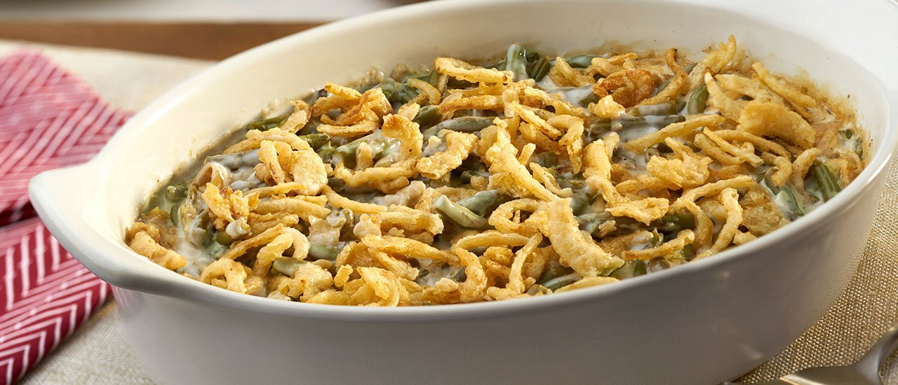 Informal Thanksgiving Dinner:  Tabletops & Recipes - Green Bean Casserole