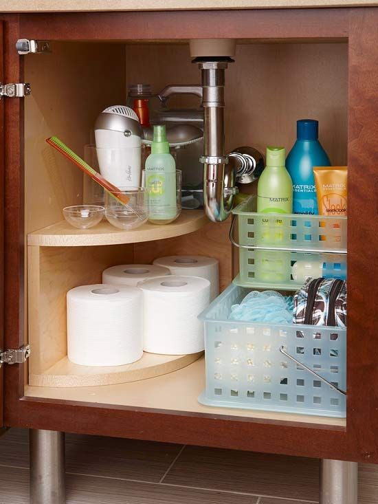 Bathroom Cabinet Organizing - Sink