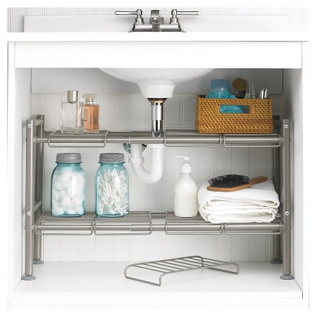 Bathroom Cabinet Organizing - Shelves