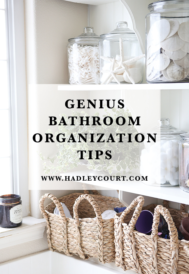 Genius Bathroom Organization Tips