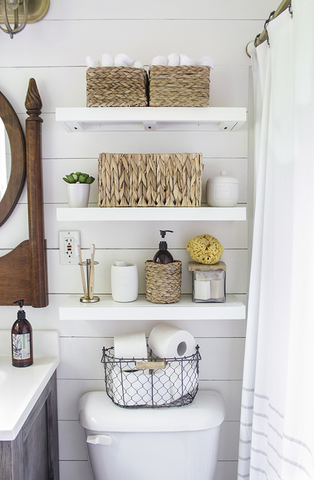Bathroom Cabinet Organizing - Shelving