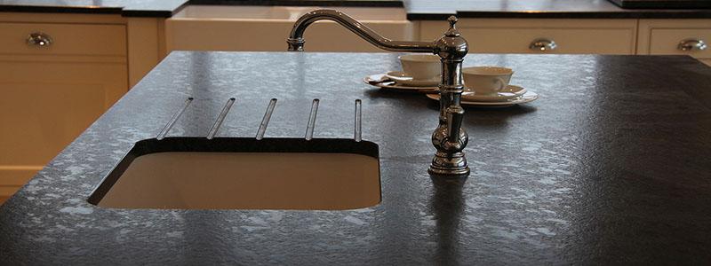 Polished under-mount sink finish