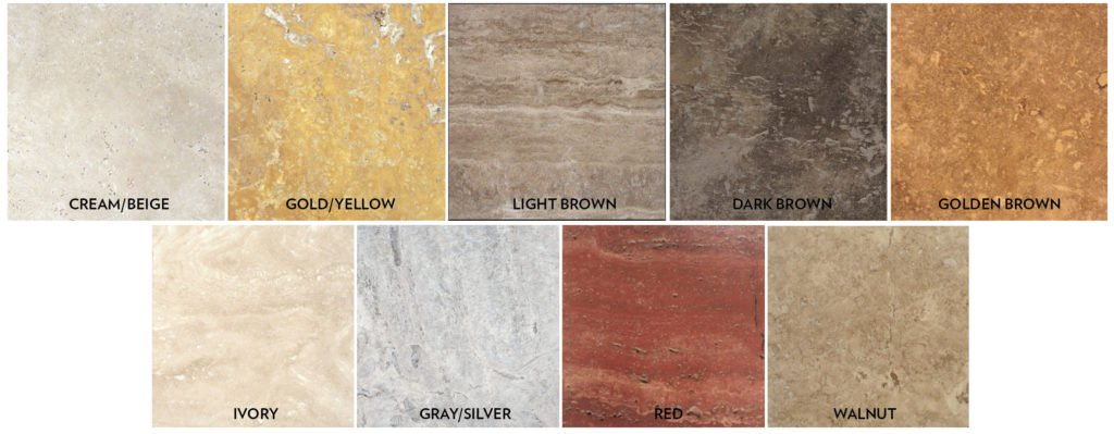 TRAVERTINE FLOOR COLORS