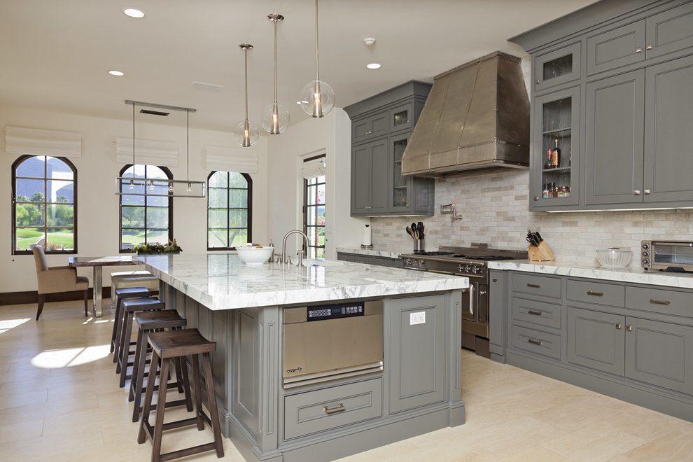 travertine tiles as kitchen backsplash