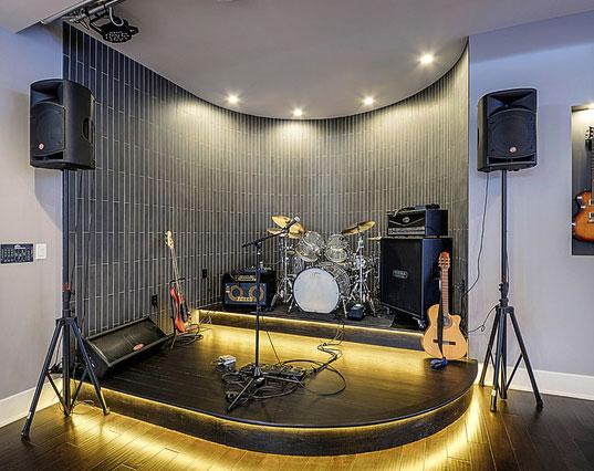 Finished Basement Designs - Music Studio