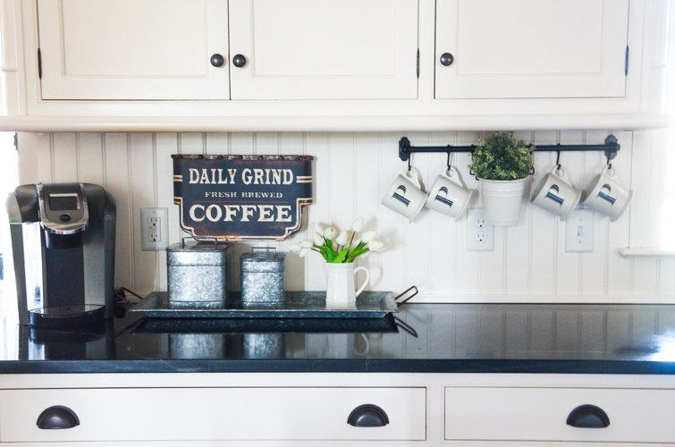 Ideas for Styling Your Kitchen Counters | Coffee Station