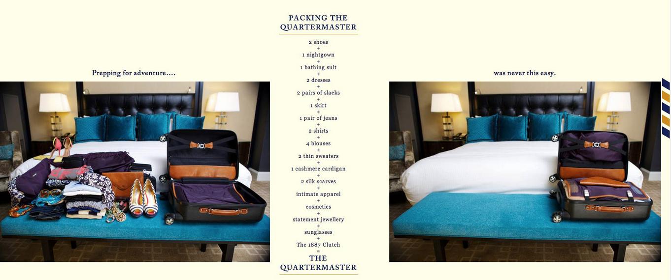 Packing the Quartermaster
