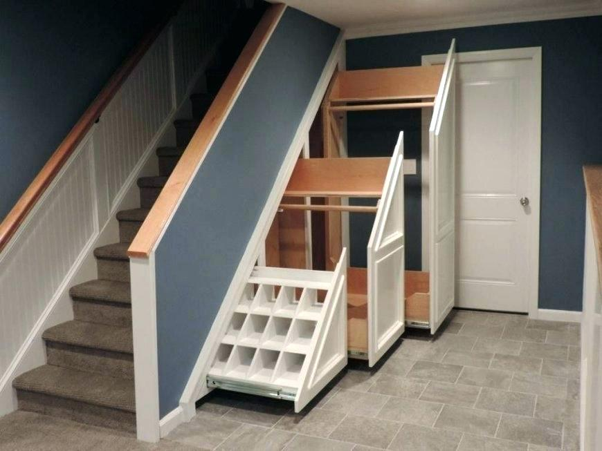Finished Basement Designs - Storage