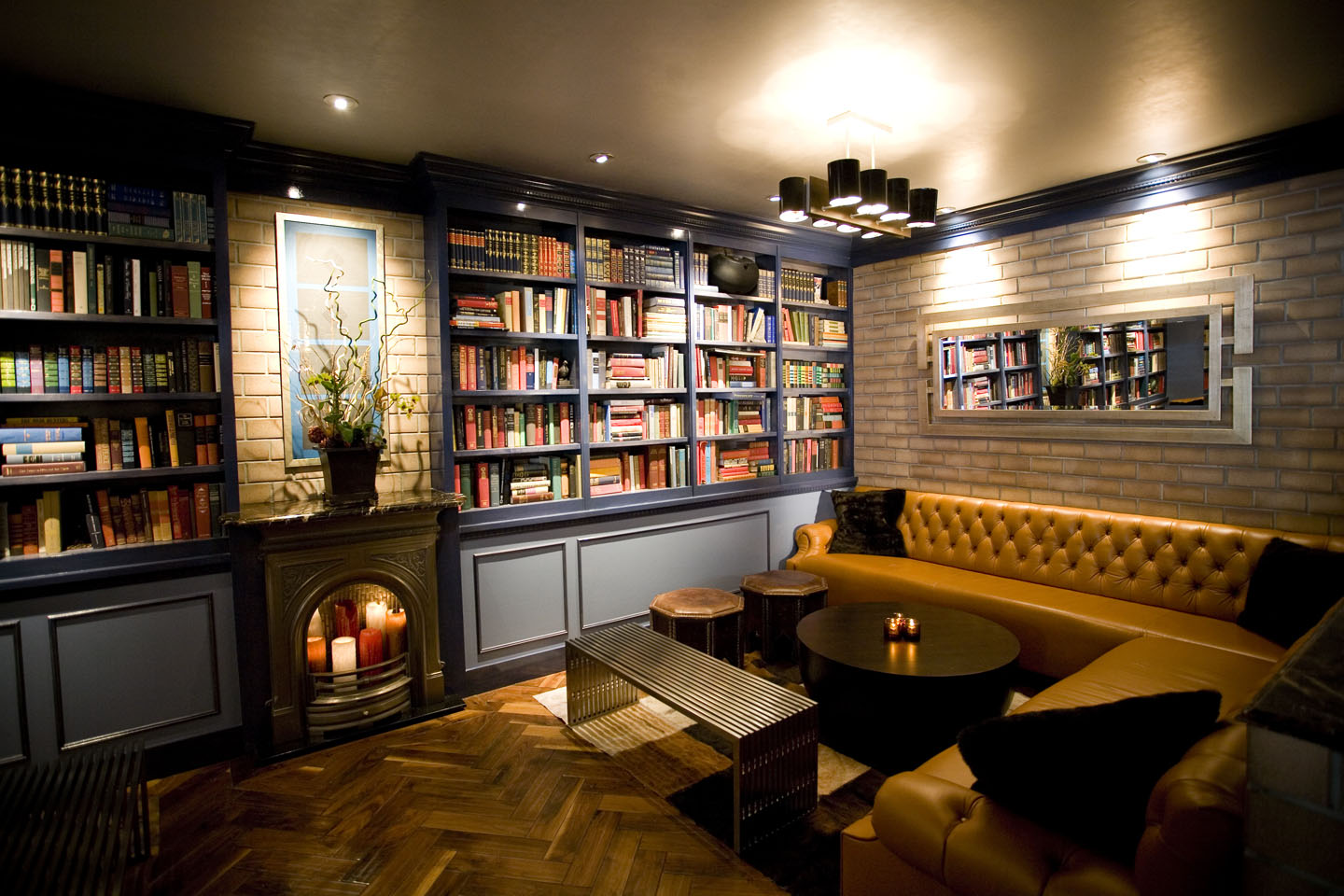 Finished Basement Designs - Library