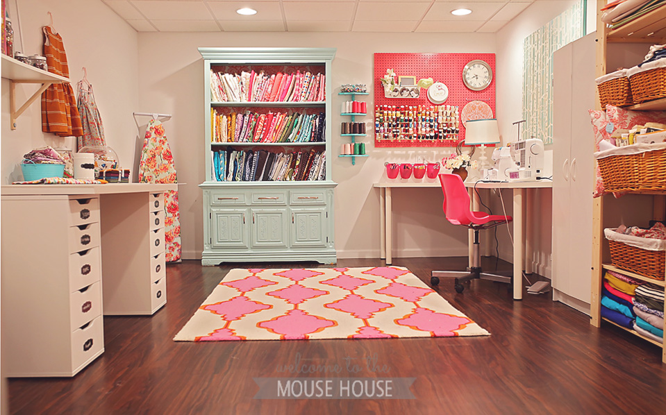 Finished Basement Designs - Sewing Room