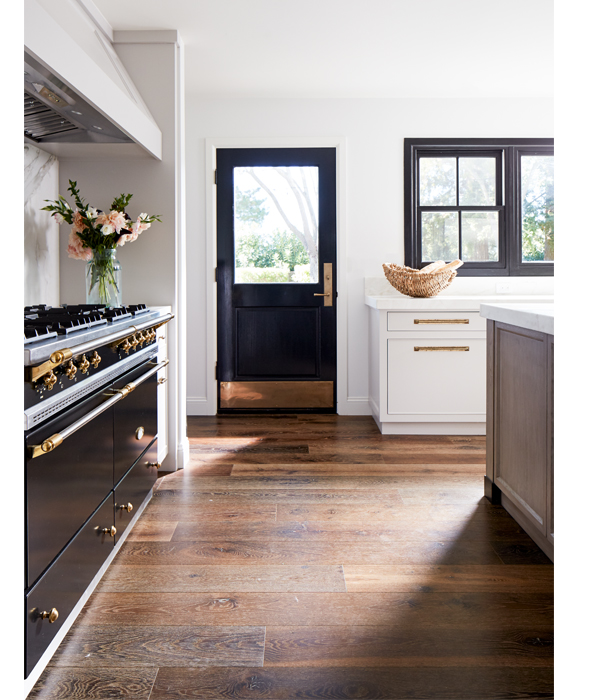 kitchen - black door