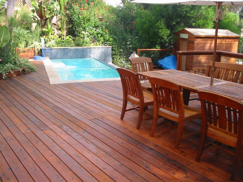 Wooden or composite deck