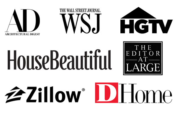 As Seen In AD - WSJ - HGTV - HouseBeautiful - The Editor AT Large - Zillow - DHome