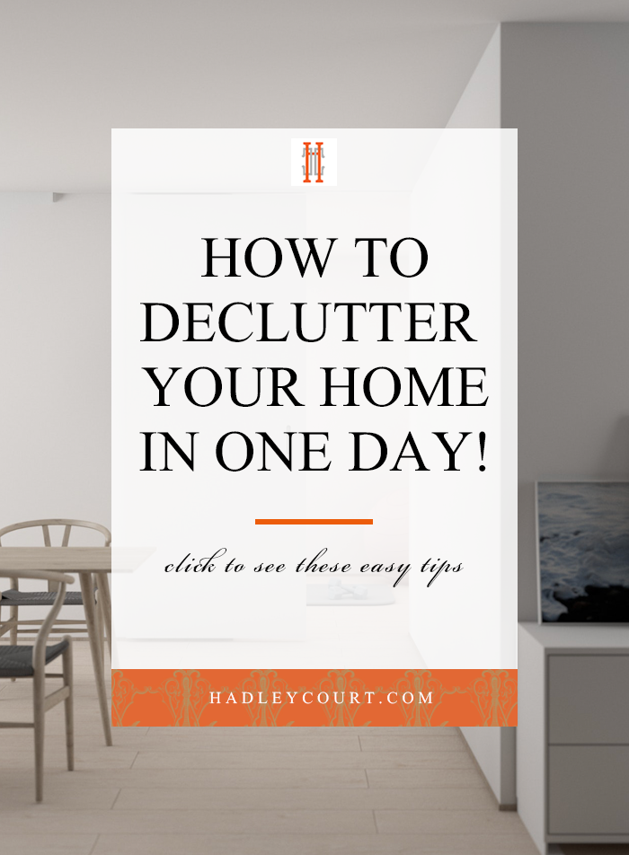 how to declutter your home in one day