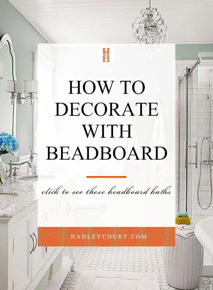 how to use beadboard in your bathroom