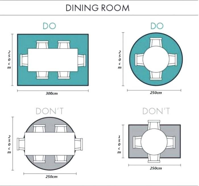 dining room rug placement guide