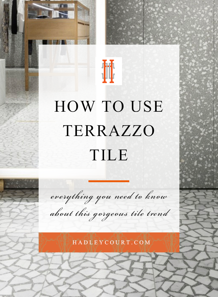 how to decorate with terrazzo tile