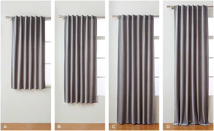 standard curtain lengths