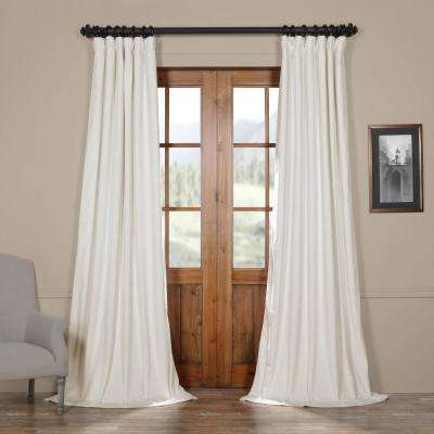 off white traditional rod pocket curtains
