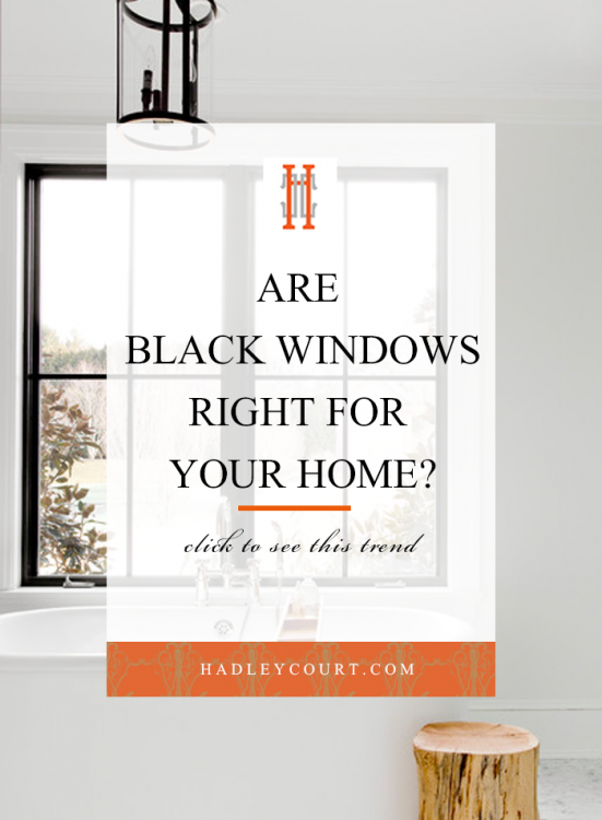 black windows for your home, are they for you? Click to see this interiors trend