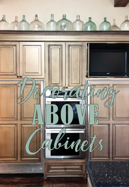 Decorating Above Cabinets