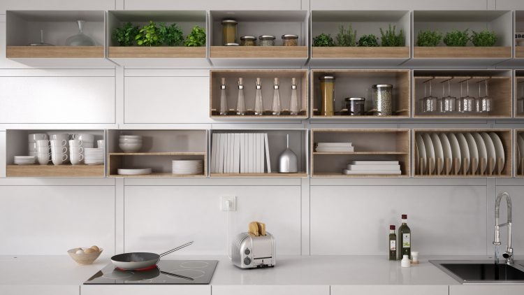 Greenery above the Kitchen Cabinets