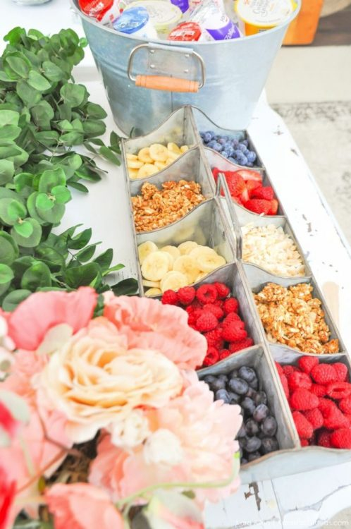 yogurt bar bridal shower ideas
