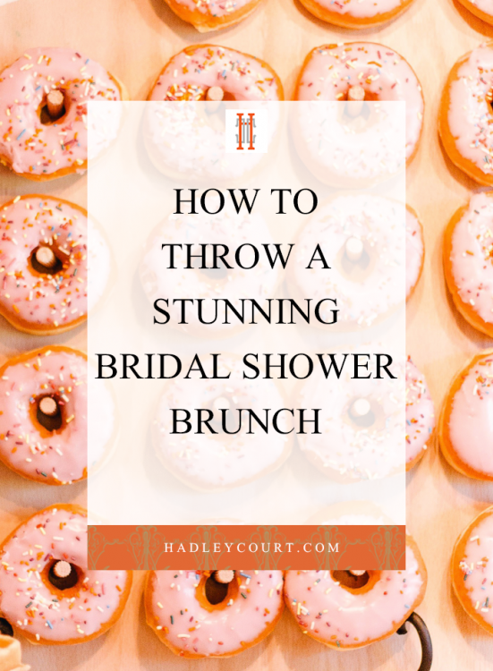 how to throw a bridal shower brunch