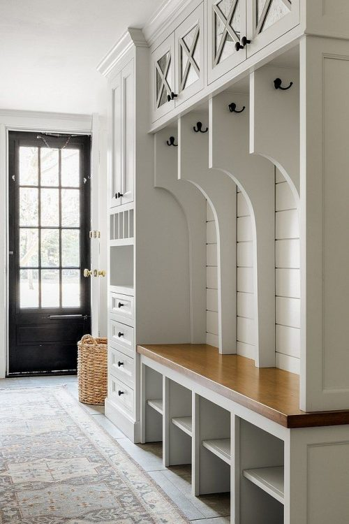 Luxury Mudroom Cabinets and Lockers - Custom Cabinets