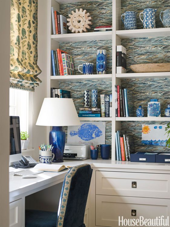 Unexpected Places to Decorate With Wallpaper - Home Office