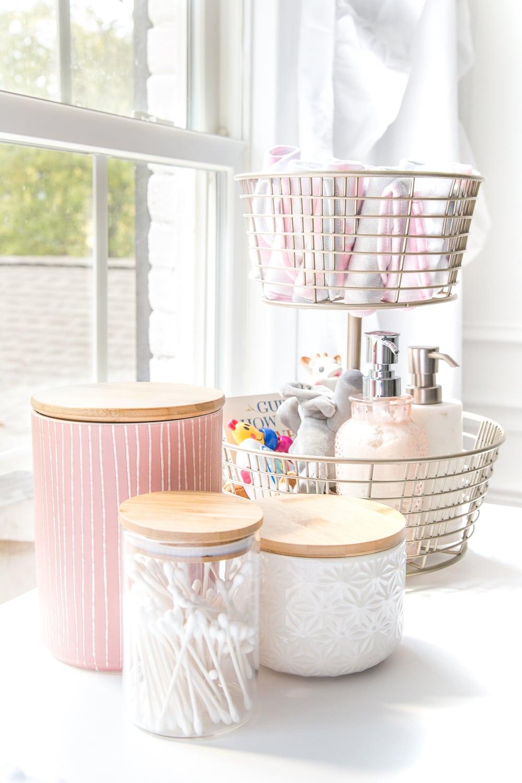 nursery organization idea cute jars