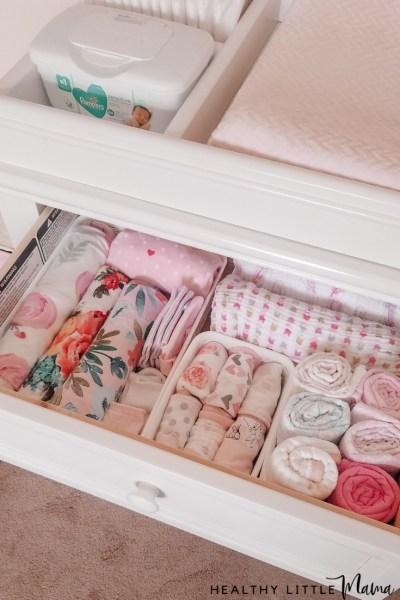 nursery organization ideas use drawer dividers