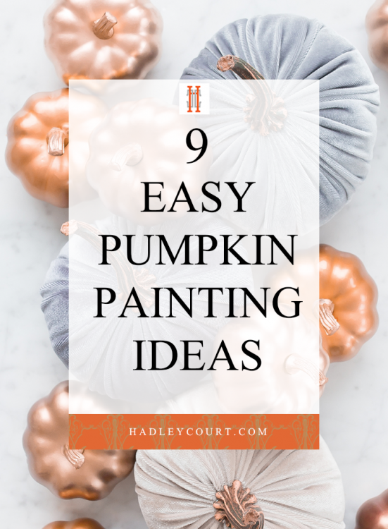 9 easy pumpkin painting ideas
