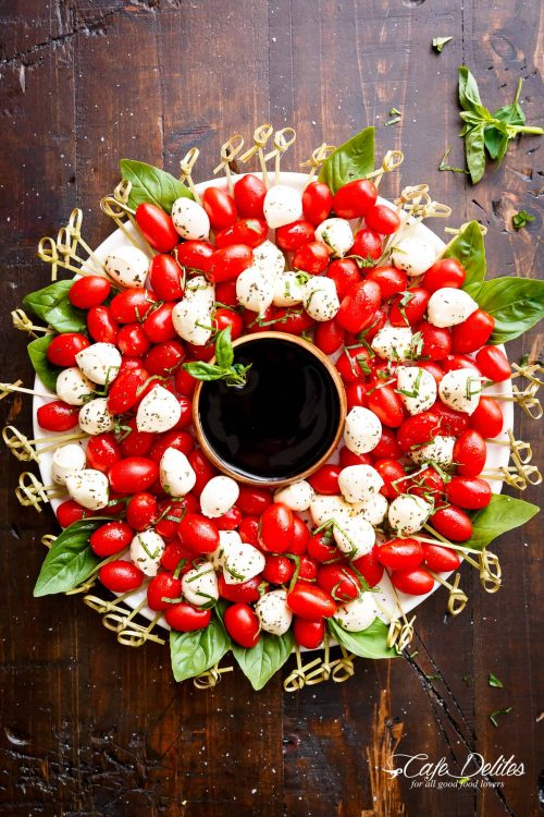 easy holiday appetizers cypress Christmas wreath