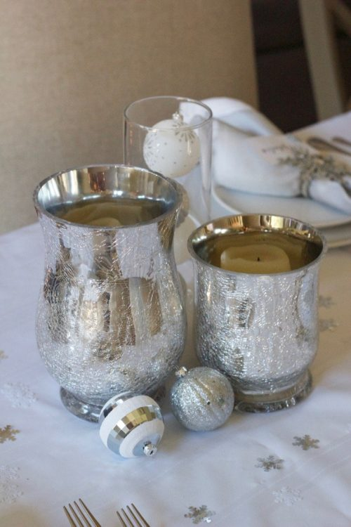 decorating with ornaments on table
