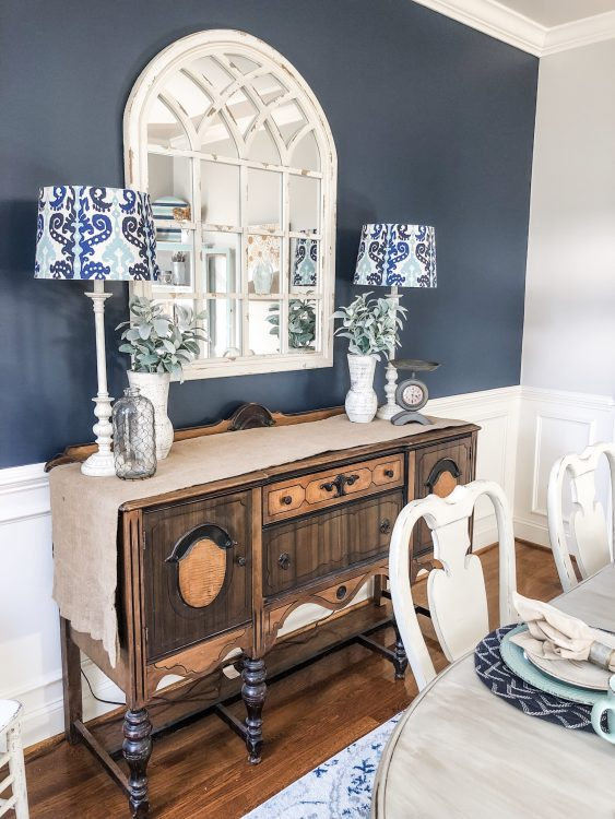 benjamin moore navy blue dining room