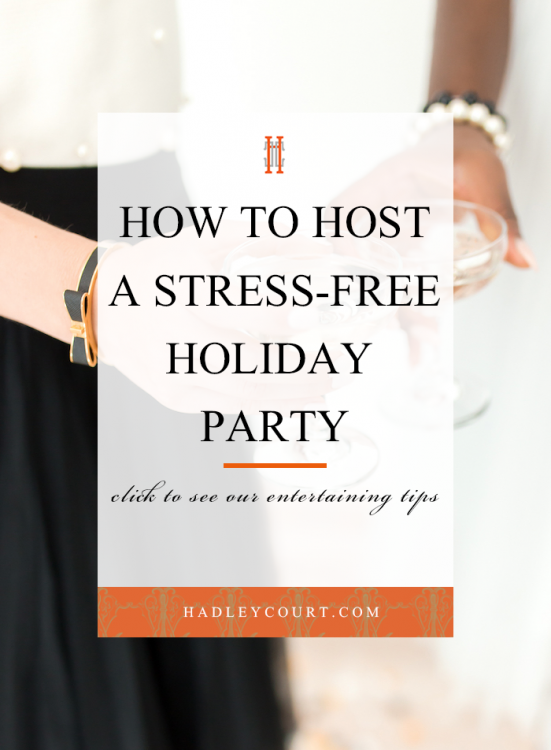 stress free holiday cocktail party