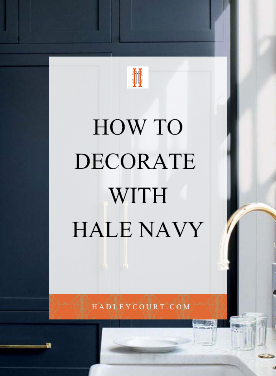 how to decorate with hale navy benjamin moore