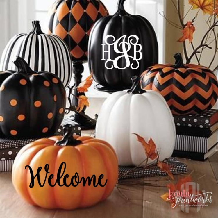 easy pumpkin decorating ideas pumpkin decals