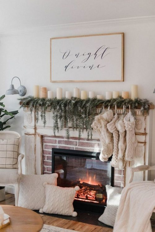Incorporate lots of trees, pinecones and wood into your decor