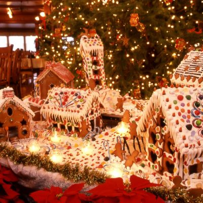 The Most Impressive Hotel Lobby Gingerbread House Displays