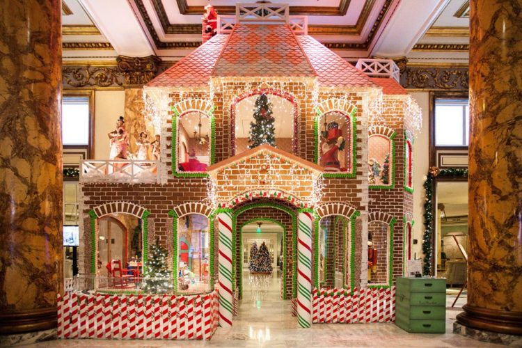 fairmont San Francisco gingerbread house display 2019