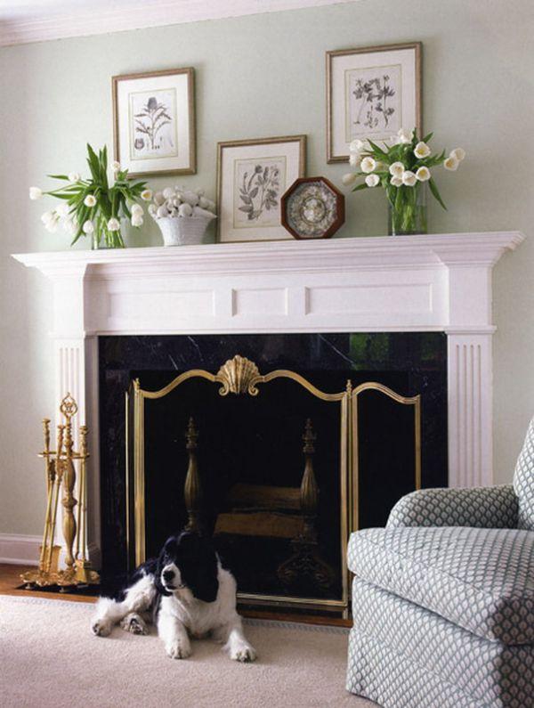classic fireplace mantel decor