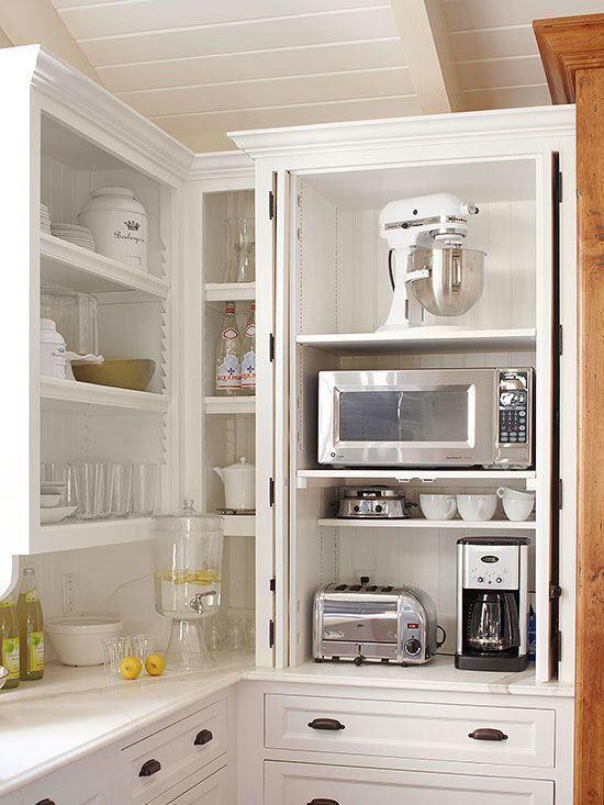 hide appliances in kitchen
