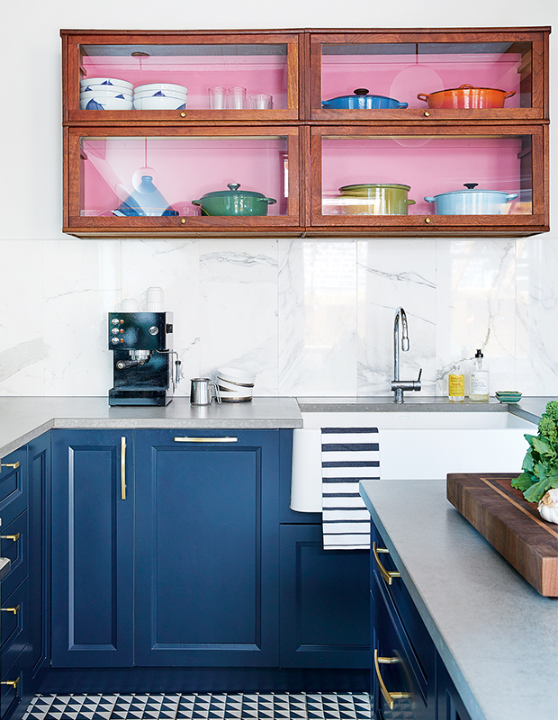 bright upper cabinets