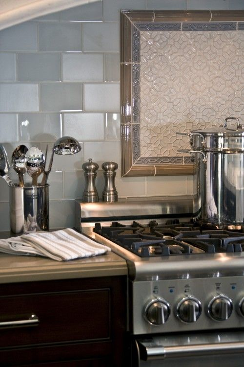 blend countertop appliances with backsplash